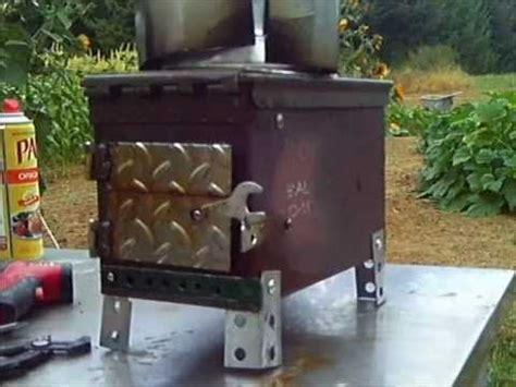 ammo box stove  grade diy wood stove ammo cans tent