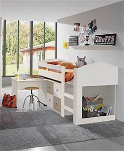 Jugendbett Mit Schreibtisch : hochbett halbhoch ~ Frokenaadalensverden.com Haus und Dekorationen