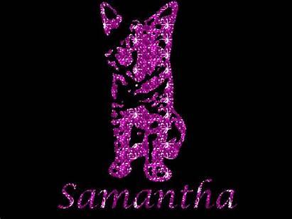 Glitter Samantha Names Text Graphics Copy