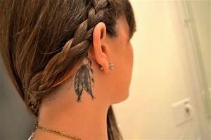 feather tattoo behind the ear   Imperfection is Beauty ...