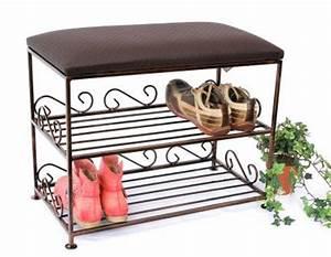 Schuhregal Aus Metall : schuhregal mit sitzbank bank 60cm schuhschrank aus metall schuhablage kaufen bei ~ Whattoseeinmadrid.com Haus und Dekorationen