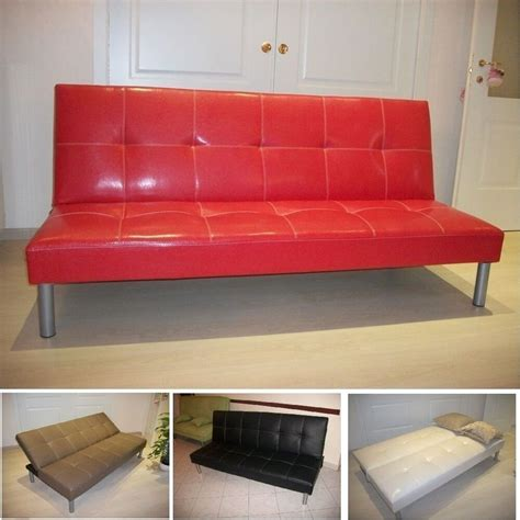 faux leather settee sofa bed sofabed faux leather bed settee various colours