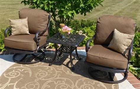 amalia 2 person luxury cast aluminum patio furniture chat
