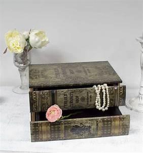 Boite A Tiroir : boite tiroirs imitation livre antique ~ Teatrodelosmanantiales.com Idées de Décoration