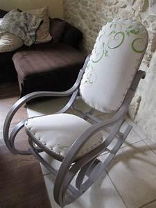 Rocking Chair Tissu : rockingchair revisit l 39 atelier vert anis ~ Teatrodelosmanantiales.com Idées de Décoration