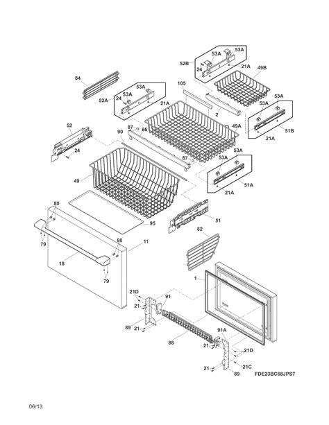 electrolux refrigerator parts e23bc68jps9 sears partsdirect