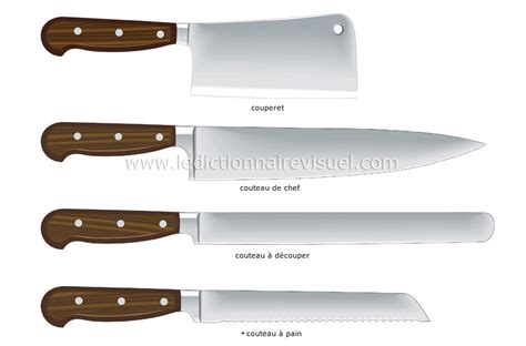 couteaux de cuisine professionnel autour de la gastronomie ustensiles de cuisine