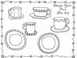 Tea Coloring Party Pages Printable Games Activity Activities Adult Own Bnute Colouring Adults Crafts Drawing February Sheet Fancy Birthday Boston sketch template