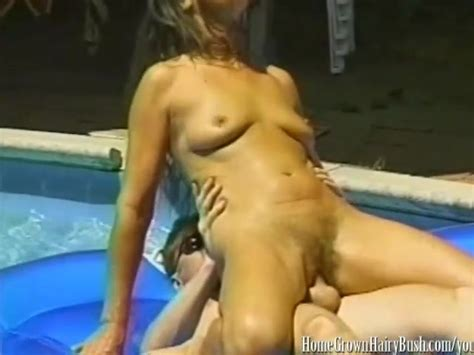 Mature Brunette Fucked In Hairy Pussy In The Pool Free