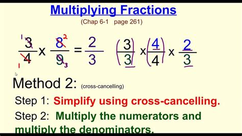 Multiplying Fractions W Cross Canceling Youtube