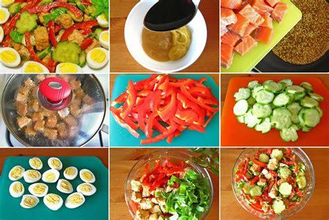 Salāti ar ceptu laša gaļu, papriku un olām - Laiki mainās!