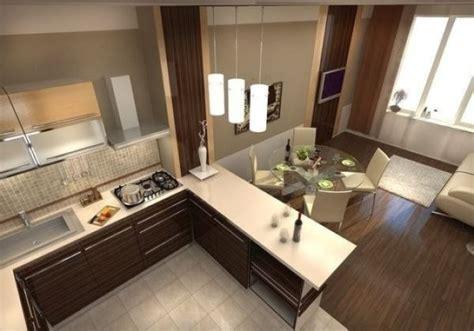 Дизайн кухни гостиной 18 кв м фото с зонированием