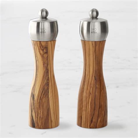 Peugeot Pepper Grinder by Peugeot Olivewood Fidji Salt Pepper Mills Williams Sonoma