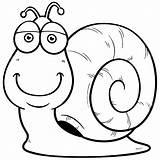 Snail Coloring Caracol Cartoon Colorear Slak Caracoles Animados Desenho Dibujos Stockillustratie Boyama Preschool Ilustracao Mail Vetor Salyangoz Depositphotos Funny Desenhos sketch template
