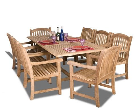 amazonia teak newcastle 9 teak rectangular dining