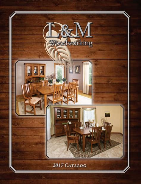lm woodworking catalog    amish furniture