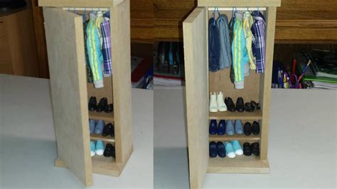 How To Make A Doll Wardrobe Closet by How To Make A Doll Closet