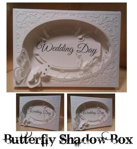 wedding butterfly shadow box card  images card box