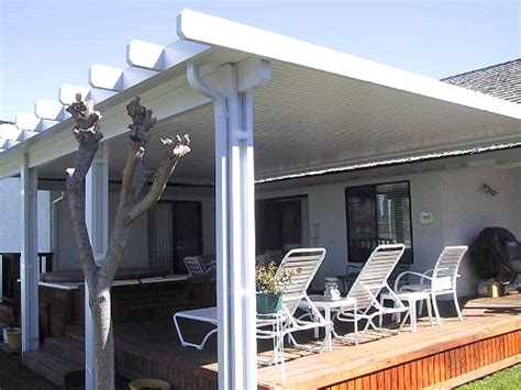 aluminum patio cover solid 8 x 40