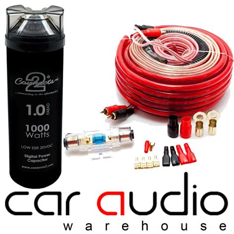 Connects Awg Watt Car Amp Wiring Kit Farad