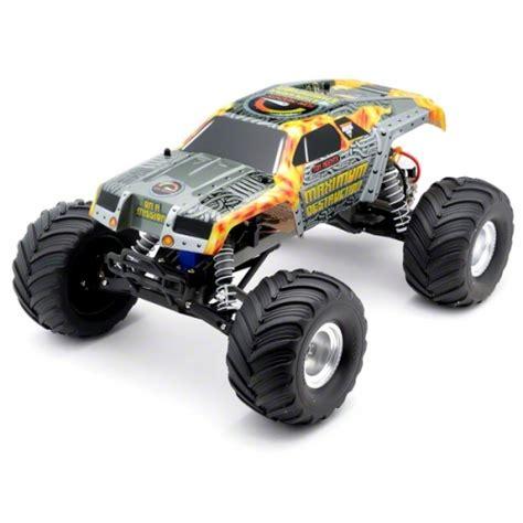 monster jam rc trucks traxxas quot maximum destruction quot monster jam 1 10 scale 2wd