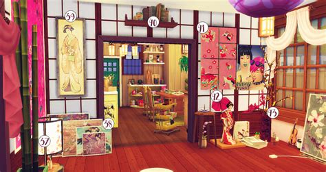 moonride sims cute japanese inspired living roomcc