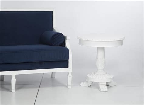 venezia white end table standard rentals modesto
