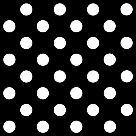 white polka dots  black background  clip art