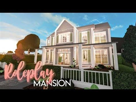 bloxburg roleplay family mansion house build mansions building  house