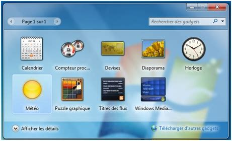 telecharger icone bureau gratuit comment installer la météo sur bureau windows 7