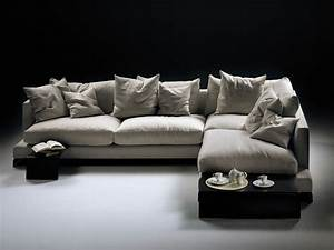 Long island corner sofa by flexform design ufficio tecnico for Long island sectional sofa grey fabric