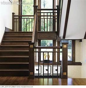 Stairways, Long, Two, Story, Windows, Along, Stair, Landing, Looking, From, One, Landing, To, Another, Of, A