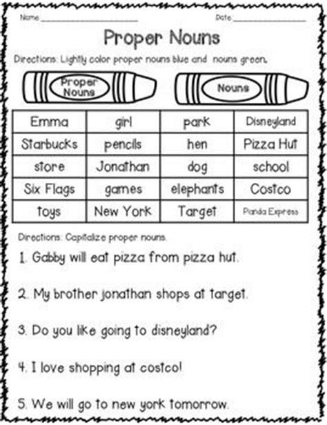25 best ideas about proper nouns worksheet on