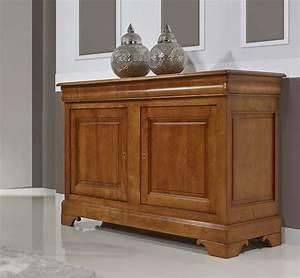 buffet 2 portes 3 tiroirs en merisier massif de style With petit meuble merisier louis philippe