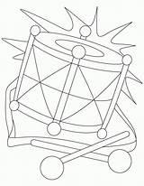 Coloring Drums Drum sketch template
