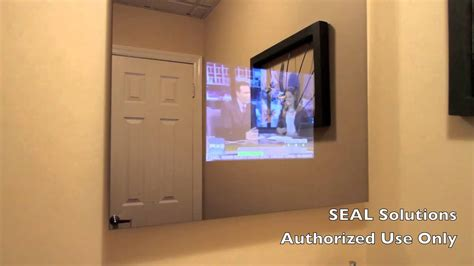 seal solutions bathroom mirror tv youtube