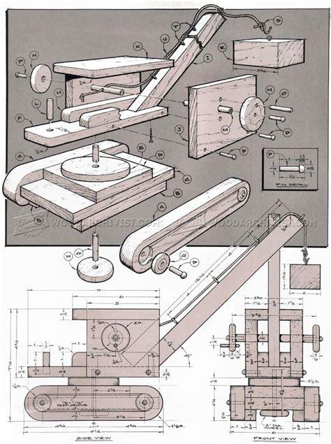 wooden toy crane plans woodarchivist
