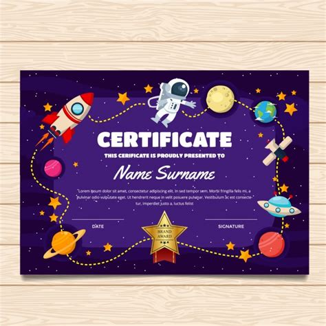 Free Template For by Certificate Template With Space Design Vector Premium