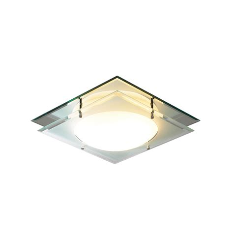 dar man472 mantra 1 light glass flush fitting