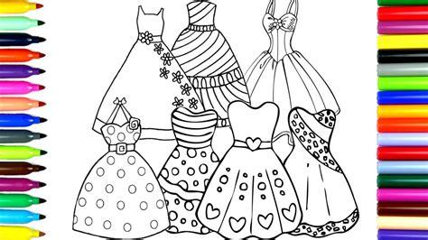 coloring beautiful princess dresses drawing pages