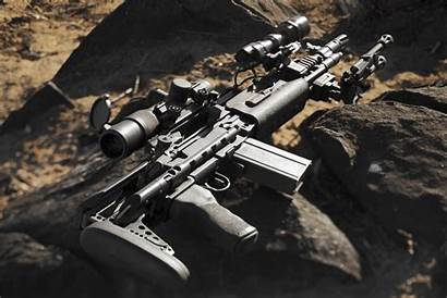 M1a Rifle Automatic Weapon M14 Stones Semi