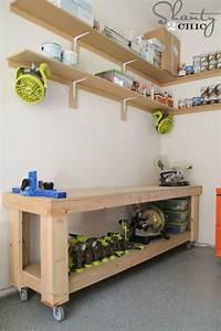 DIY Workbench - Free Plans - Shanty 2 Chic