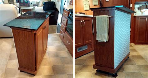 rv kitchen island danny d rv tips diy addition rv kitchen storage and 2077