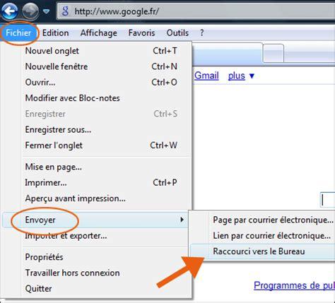 creer un icone sur le bureau comment créer un raccourci vers un site sur