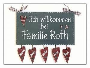 Namensschild Haustür Schiefer : t rschild willkommen namensschild mit herz ~ Lizthompson.info Haus und Dekorationen