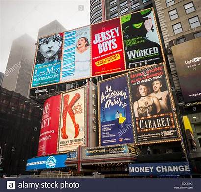 York Times Square Broadway Advertising Musicals Plays