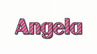 Angela Azalea Text Logos Flamingtext Stripes