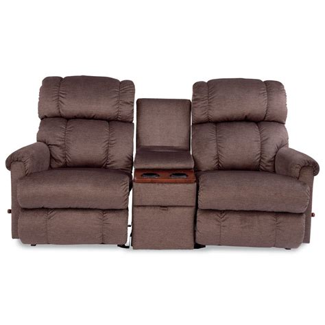 Reclining Loveseat With Middle Console by 3 Sectional Reclining Sofa With Middle Console By La