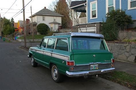 parked cars  jeep wagoneer