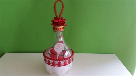 idee ladari fai da te tutorial addobbo natalizio con bottiglia di plastica idee